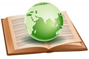 globe on book