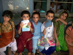 Primary school children in Sindh, Pakistan. Copyright Sadaf Shallwani. All rights reserved.