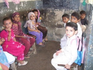 Children at school in Sindh, Pakistan. Copyright Sadaf Shallwani. All rights reserved.